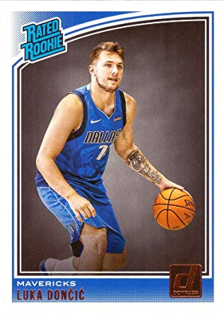 2018-19 Donruss Luka Doncic #177 Rated Rookie RC Dallas Mavericks