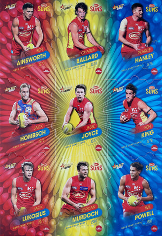 select afl footy stars 2020 cards