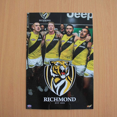 select footy stars 2020 richmond tigers jigsaw puzzle complete