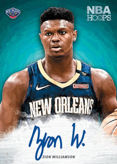 zion williamson panini nba hoops autograph