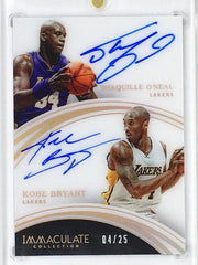 15-16 Immaculate SHAQUILLE O'NEAL & KOBE BRYANT Dual Auto