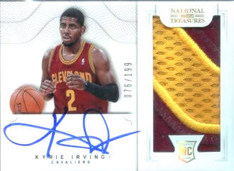 KYRIE IRVING 2012-13 NATIONAL TREASURES ROOKIE AUTO PATCH