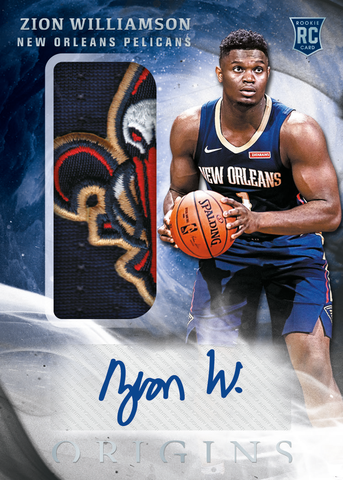 zion williamson panini origins nba 2019 20