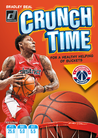 crunch time cereal box donruss nba card