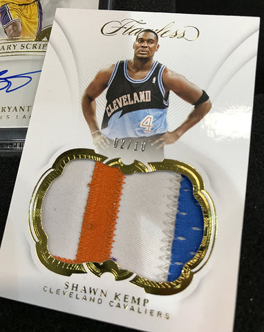 shawn kemp patch 2018-19 panini flawless