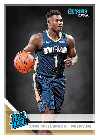 zion williamson rated rookie donruss nba