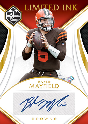 baker mayfield panini limited football 2019