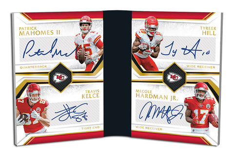 quad signature booklet panini limited football 2019