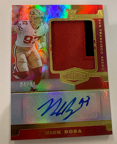 panini plates and patches nick bosa