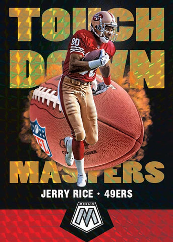 panini mosaic football touch down masters jerry rice