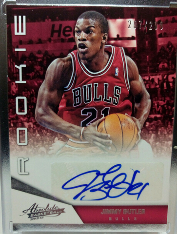 panini absolute jimmy butler rookie auto