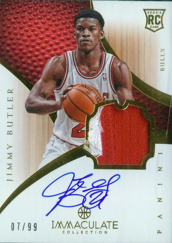 Jimmy Butler 2012-13 Panini Immaculate Rookie Patch Auto