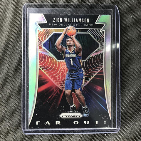 zion silver prizm far out rookie card