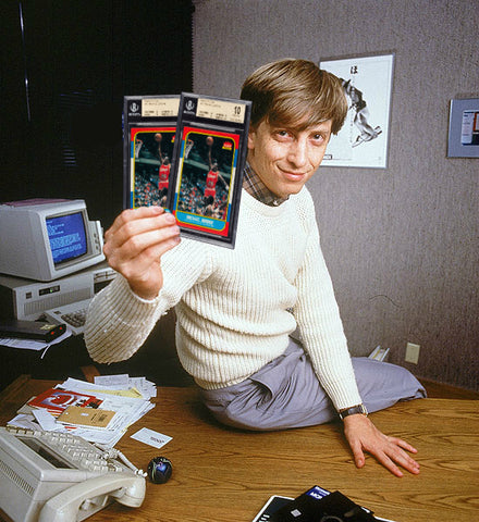 fleer jordan rookie microsoft bill gates