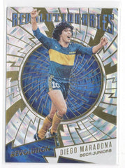 2017 Panini Revolution Revolutionaries Fractal 16 Diego Maradona Juniors