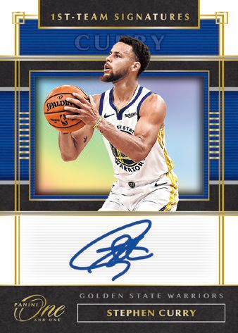 panini one and one steph curry autograph