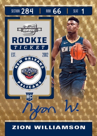 zion williamson optic contenders rookie