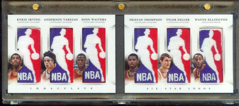 1/1 Kyrie Irving Tristan Thompson 12-13 Immaculate Cavaliers Six NBA Logoman RC