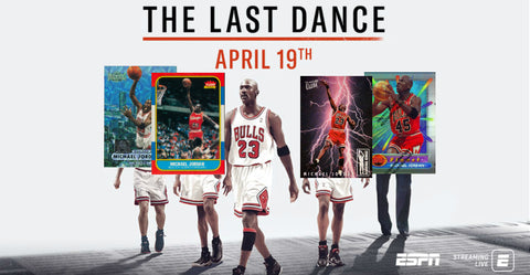 michael jordan cards the last dance netflix espn chicago bulls