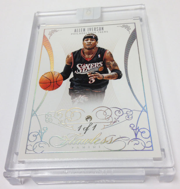2013/14 Panini Flawless Basketball Allen Iverson 1/1 Diamond | NBA Trading Cards | Melbourne CBD