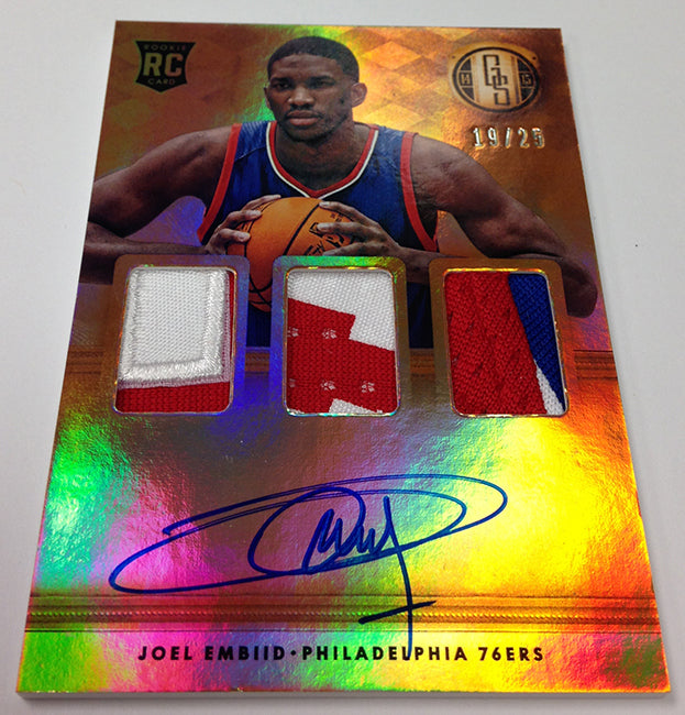 2014-15 Panini Gold Standard Basketball Joel Embiid Rc Patch Auto | NBA Trading Cards | Melbourne CBD