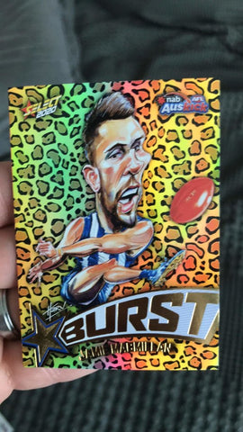 select afl footy stars card
