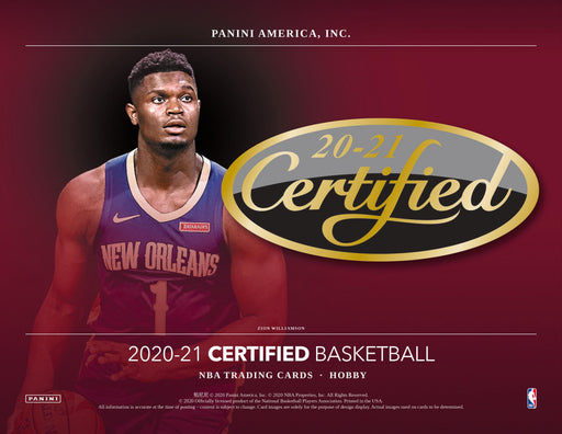2020-21 Panini NBA Certified Basketball Hobby Box (Pre Order Feb 10)-Cherry Collectables