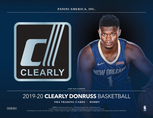 2019-20 Panini Clearly Donruss Basketball Hobby Box (Pre Order Oct 28)-Cherry Collectables