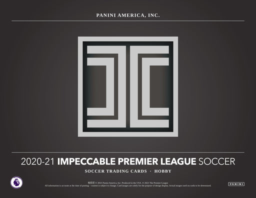 2020-21 Panini Impeccable English Premier League EPL Soccer Hobby Box (Pre Order Mar 24)-Cherry Collectables