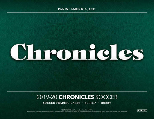 2019-20 Panini Chronicles Soccer Hobby Box (Pre Order May 13)-Cherry Collectables