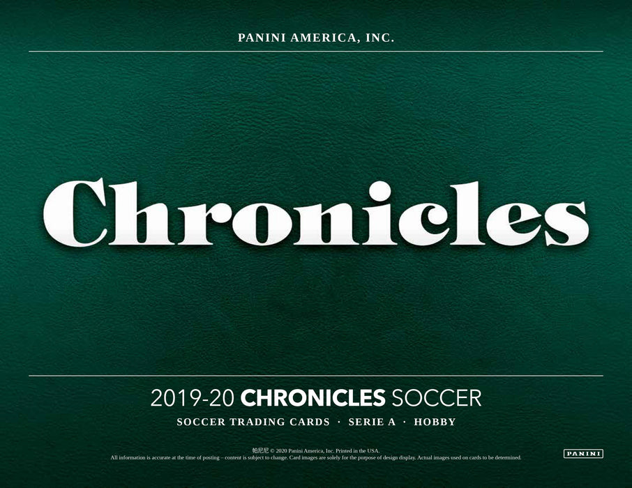 2019-20 Panini Chronicles Soccer Hobby Box-Cherry Collectables