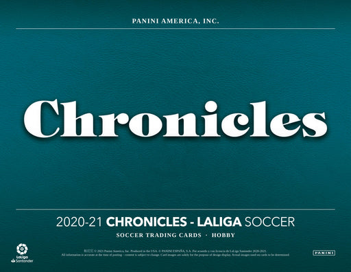 2020-21 Panini Chronicles Soccer Mini Box La Liga (Pre Order Jun 4)
