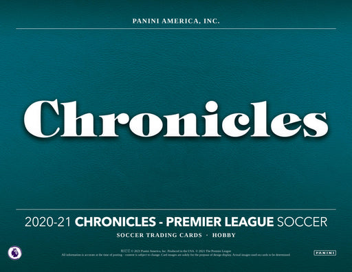 2020-21 Panini Chronicles Soccer Mini Box Premier League (Pre Order Jun 4)