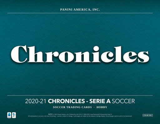 2020-21 Panini Chronicles Soccer Mini Box Serie A (Pre Order Jun 4)
