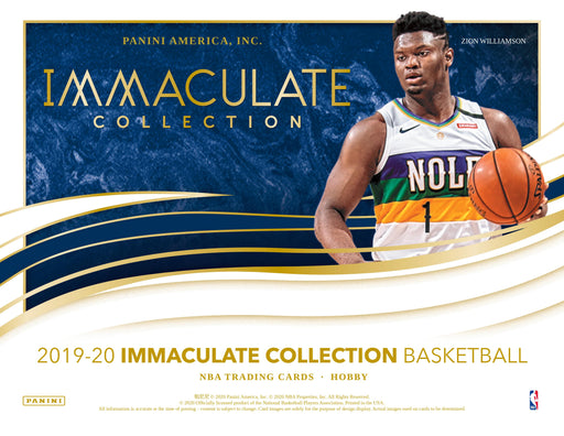 2019-20 Panini Immaculate Basketball Hobby Box (Pre Order Oct 14)-Cherry Collectables