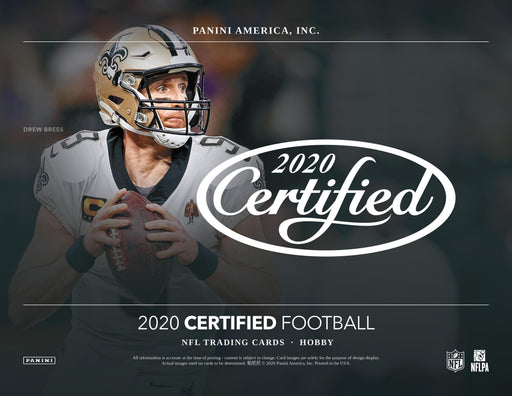 2020 Panini Certified Football Hobby Box (Pre Order Aug 19)-Cherry Collectables