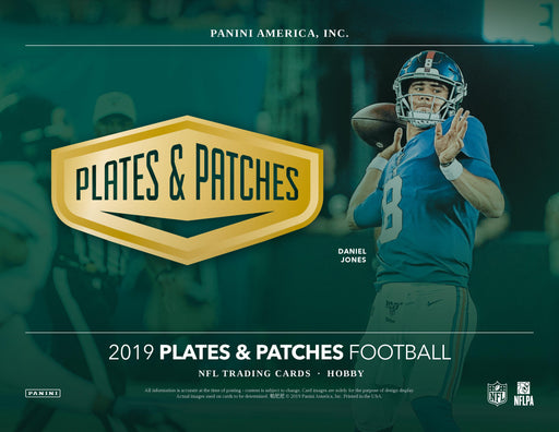 2019 Panini Plates and Patches Football Hobby Box (Pre Order Feb 05)-Cherry Collectables