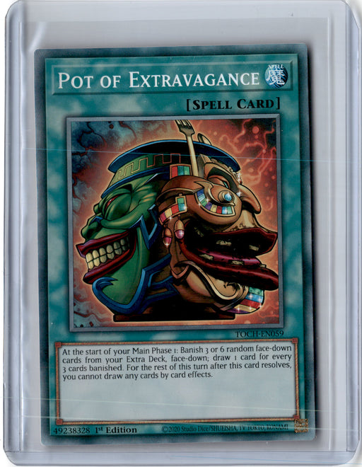 COLLECTOR RARE Pot of Extravagance - TOCH-EN059 - Ultra Rare 1st Edition (C)-Cherry Collectables