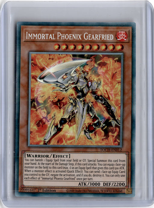 COLLECTOR RARE Immortal Phoenix Gearfried - TOCH-EN012 - 1st Edition (C)-Cherry Collectables