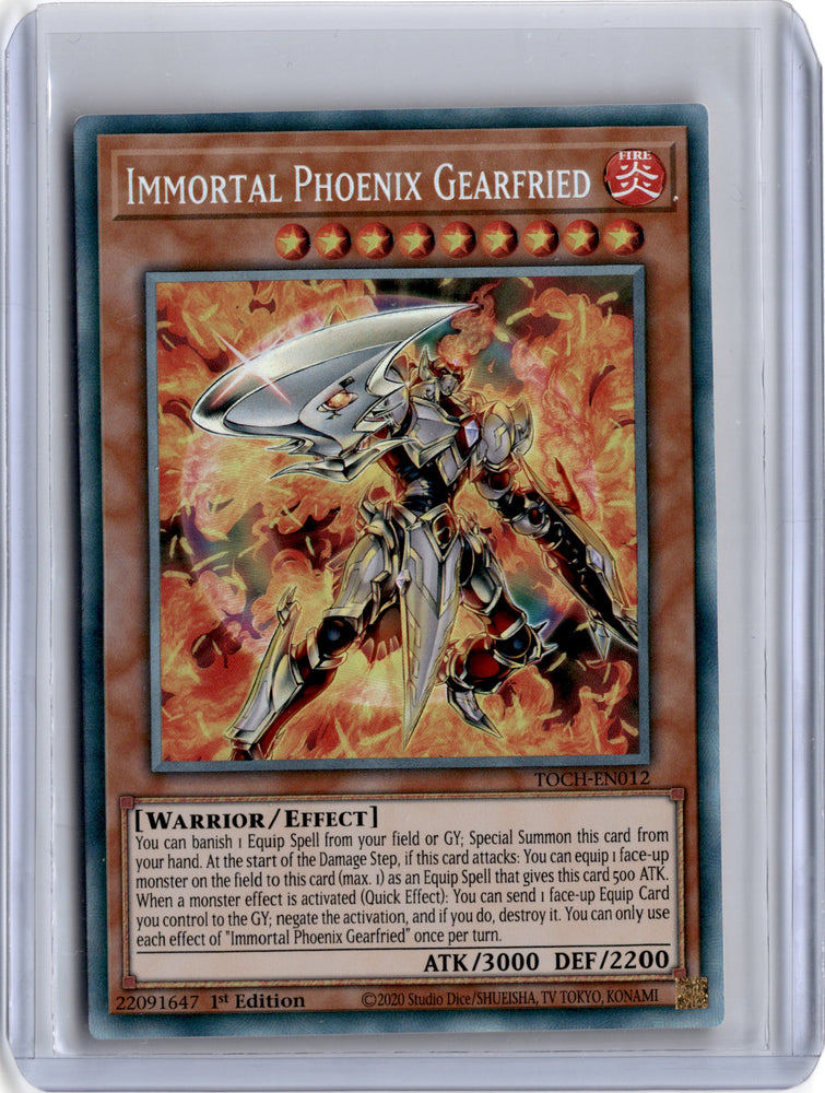 Immortal Phoenix Gearfried - TOCH-EN012 - Collector Rare 1st Edition (B)-Cherry Collectables
