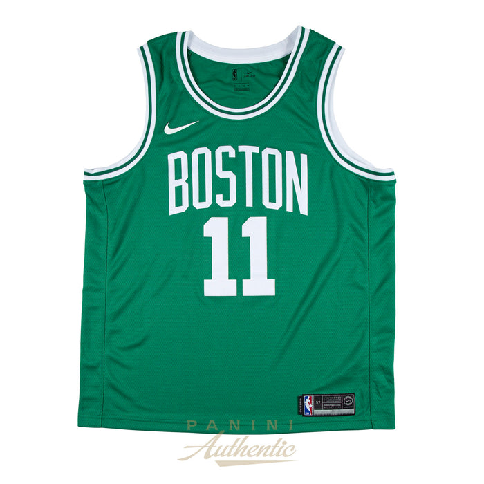 save off 4c86a 2611b Kyrie Irving Panini Authentic Autographed Celtics Green Nike Swingman  Jersey