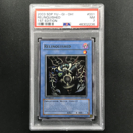 PSA 7 NM Relinquished - SDP-001 - Ultra Rare 1st Edition Starter Deck Pegasus-Cherry Collectables