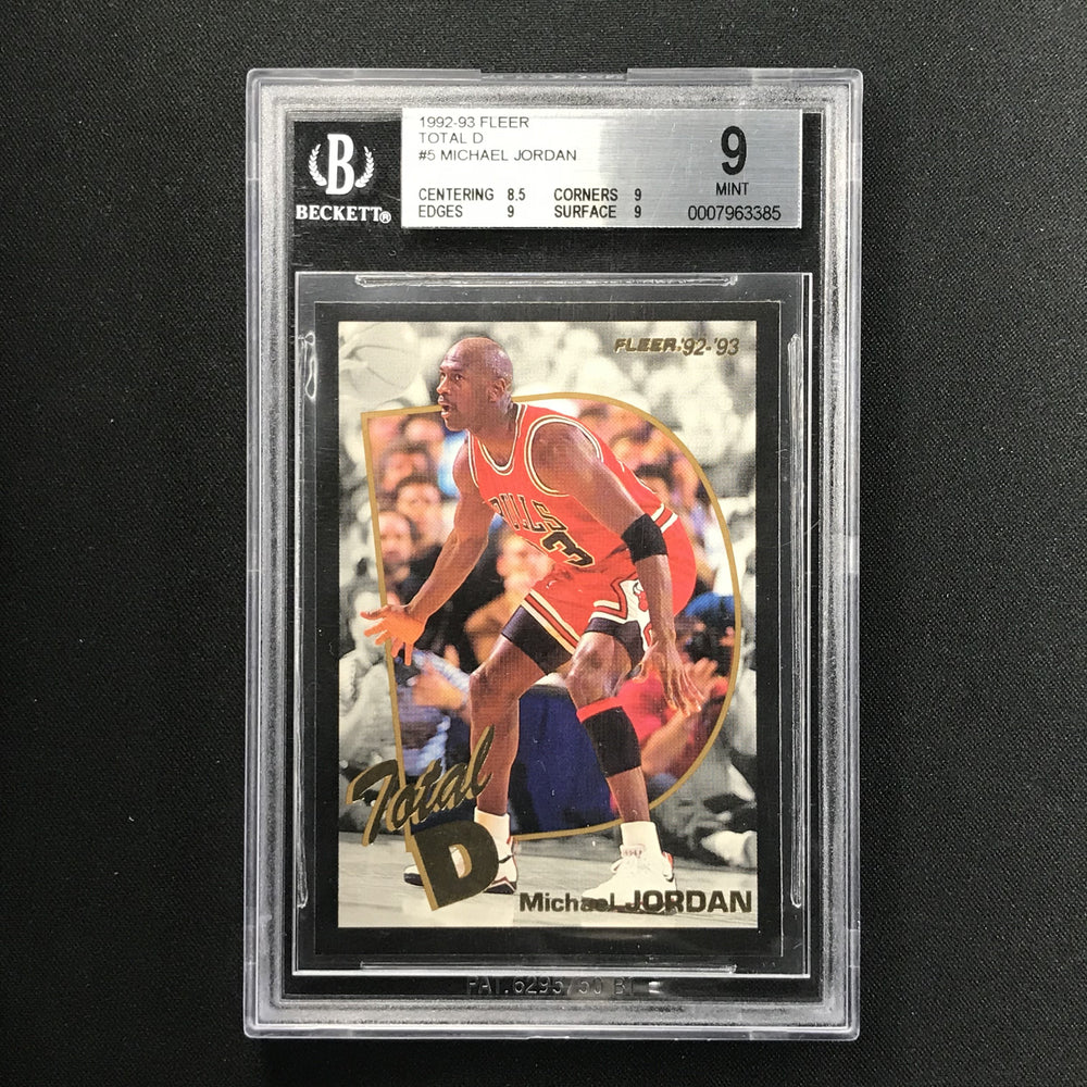 1992-93 Fleer MICHAEL JORDAN Total D BGS 9-Cherry Collectables