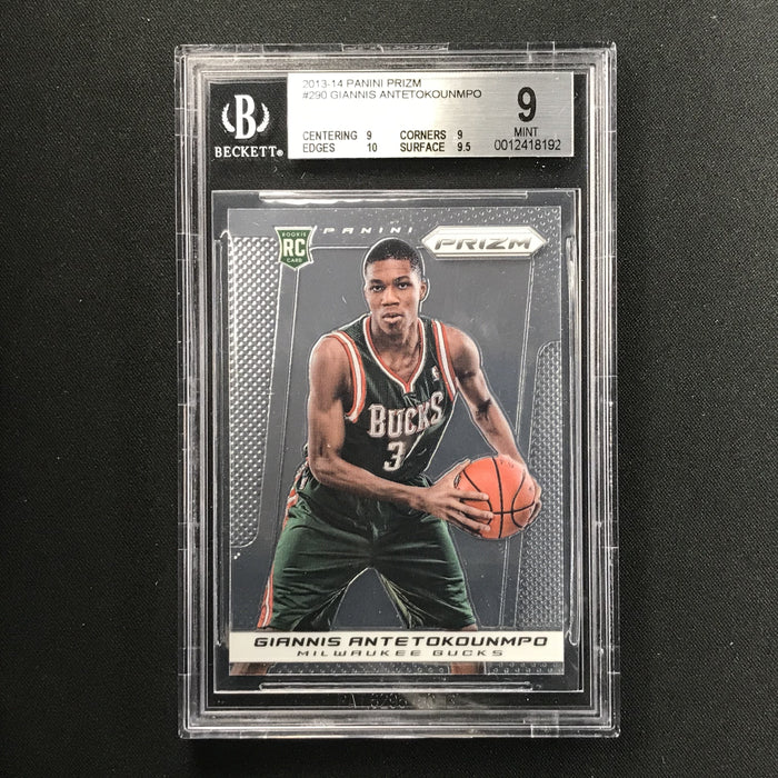 2013-14 Prizm GIANNIS ANTETOKOUNMPO Prizm Rookie BGS 9 (192)-Cherry Collectables