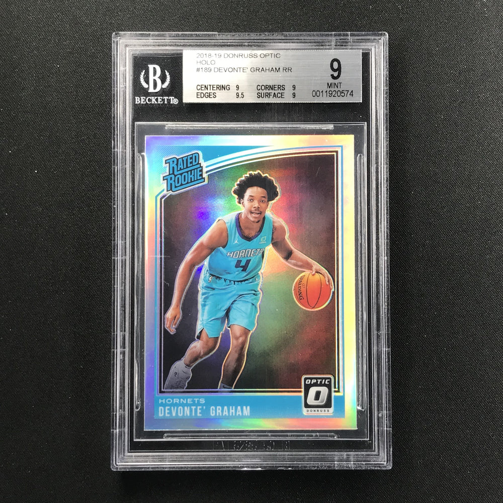 2018-19 Optic DEVONTE GRAHAM Rated Rookie Optic Holo BGS 9-Cherry Collectables