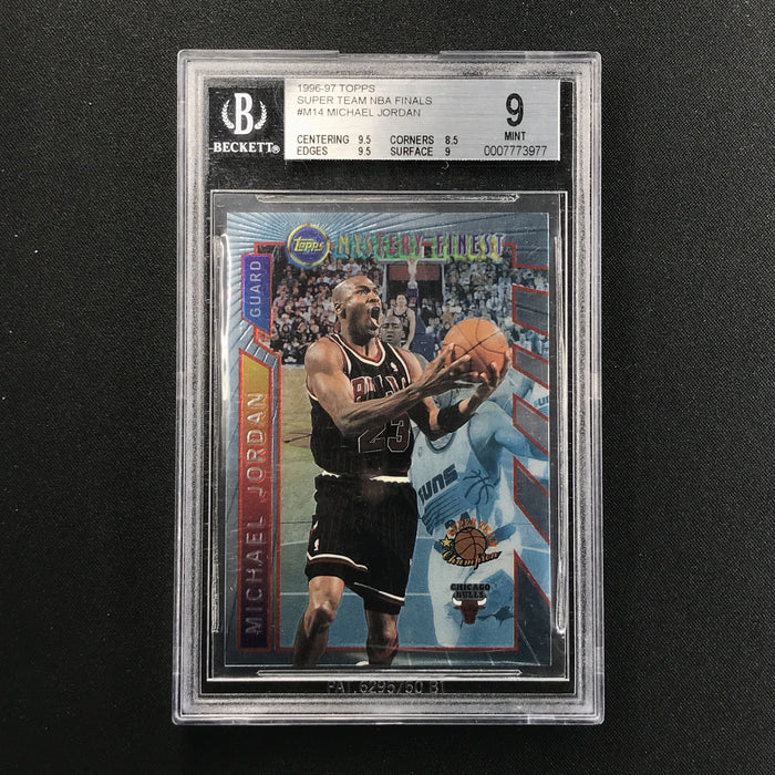 1996-97 Topps Finest MICHAEL JORDAN Mystery Finest BGS 9-Cherry Collectables