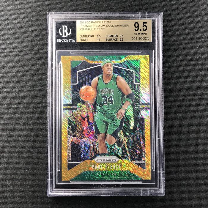 2019-20 Prizm PAUL PIERCE Gold Shimmer Prizm 8/10 BGS 9.5-Cherry Collectables
