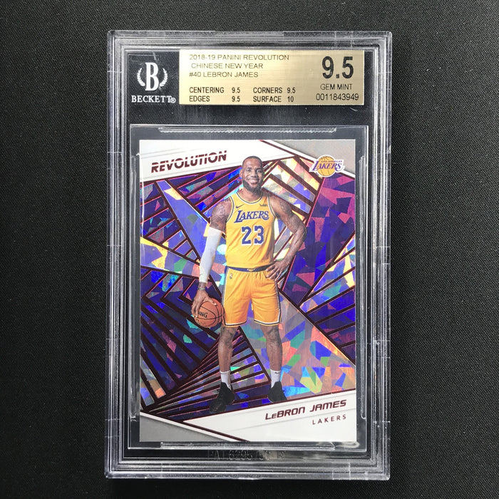 2018-19 Revolution LEBRON JAMES Chinese New Year Red Cracked Ice BGS 9.5-Cherry Collectables