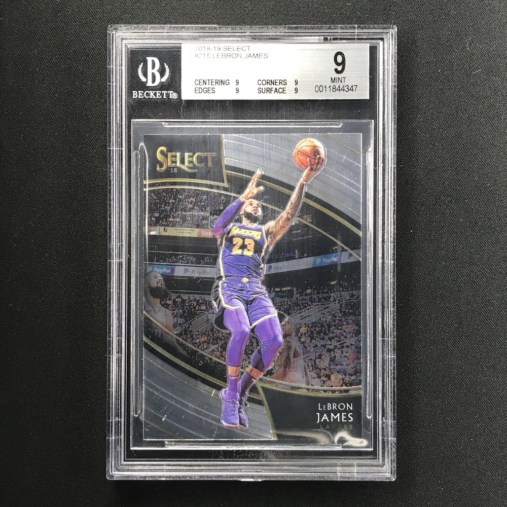 2018-19 Select LEBRON JAMES Courtside BGS 9 #215-Cherry Collectables