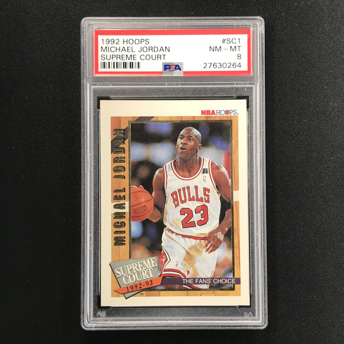 1992-93 Hoops MICHAEL JORDAN Supreme Court PSA 8-Cherry Collectables